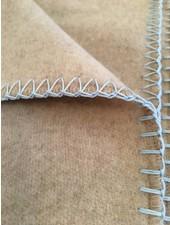 chillisy® Cashmere Plaid, 100% cashmere, light beige-baby blue