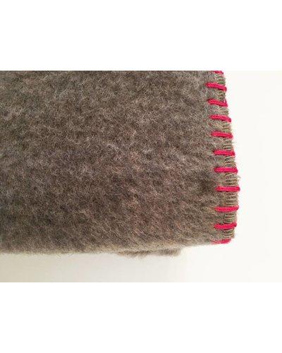 chillisy® Cashmere plaid, 100% cashmere, maroni-fuchsia