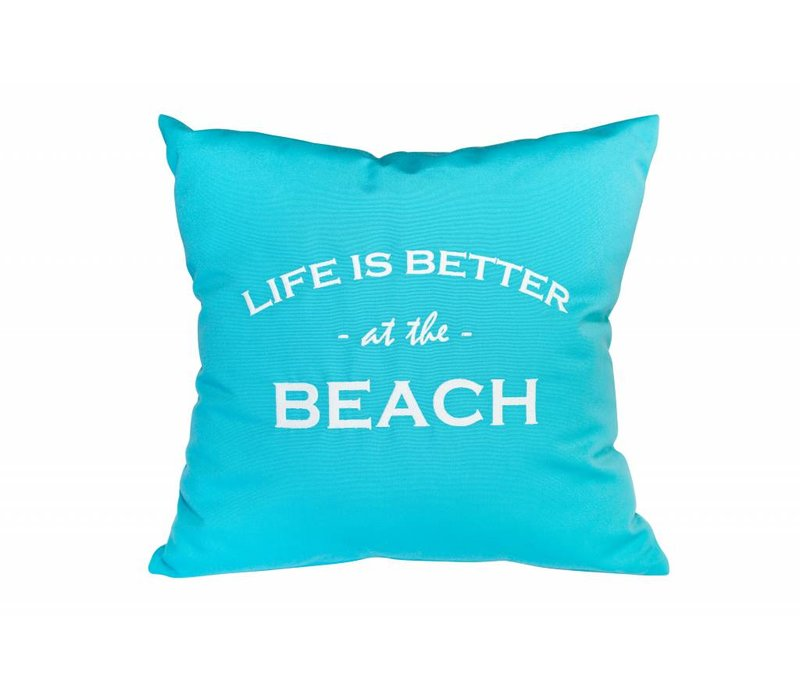 "Outdoor Kissen ""LIFE IS BETTER AT THE BEACH"""