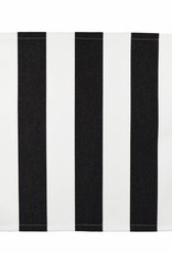 Outdoor table runner Yachting II, black-white