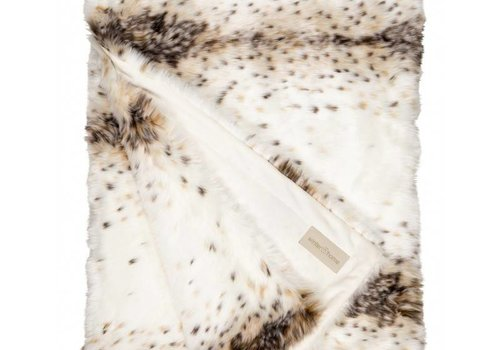 Winter Home Winter Home Decke Fellimitat Lynx 140x200 cm