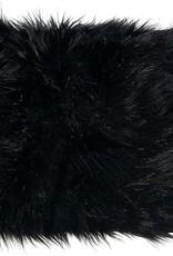 Winter Home 4er Set Sitzpolster - Winter Home Fellimitat Schaffell Blackwolf 40x40 cm