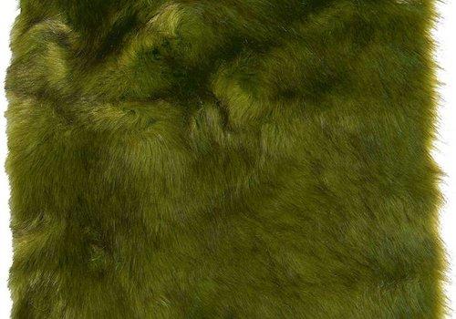 Winter Home 4er Set Sitzpolster - Winter Home Fellimitat Schaffell Greenwolf 40x40 cm