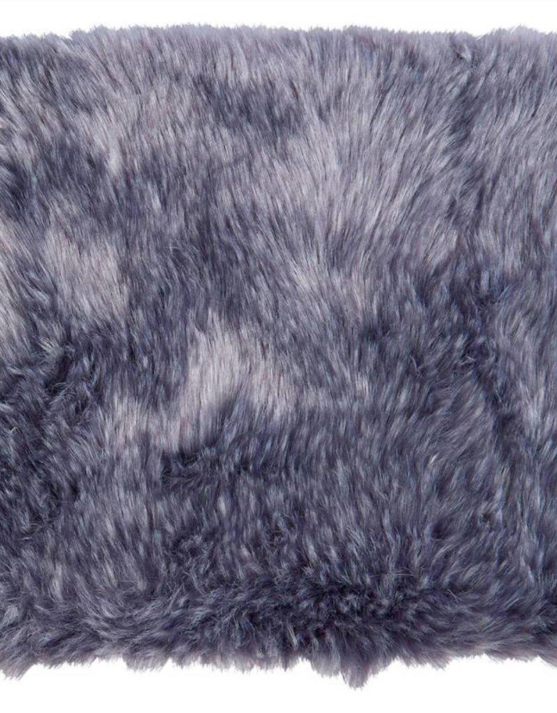 Winter Home 4er Set Sitzpolster - Winter Home Fellimitat Schaffell Purplewolf 40x40 cm