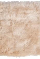 Winter Home 4er Set Sitzpolster - Winter Home Fellimitat Schaffell Sandwolf 40x40 cm