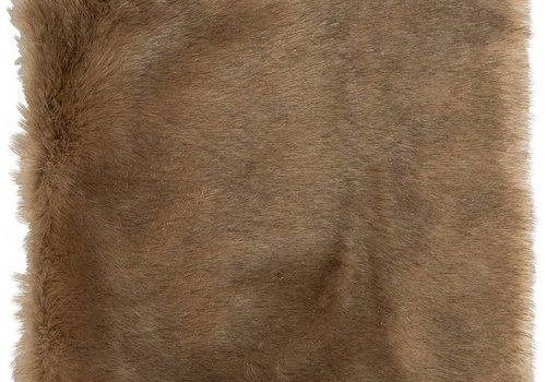 Winter Home 4er Set Sitzpolster - Winter Home Fellimitat Schaffell Savannawolf 40x40 cm