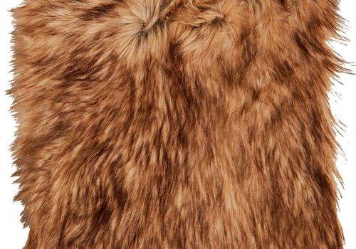 Winter Home 4er Set Sitzpolster - Winter Home Fellimitat Schaffell Steppenwolf 40x40 cm