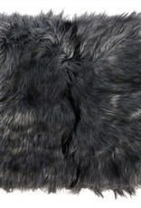 Winter Home 4er Set Sitzpolster - Winter Home Fellimitat Schaffell Tamaskanawolf 40x40 cm