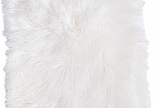 Winter Home 4er Set Sitzpolster - Winter Home Fellimitat Sitzpolster Arcticwolf 40x40 cm