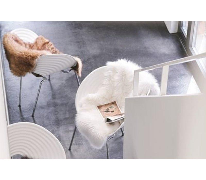 4er Set Sitzpolster - Winter Home Fellimitat Sitzpolster Arcticwolf 40x40 cm