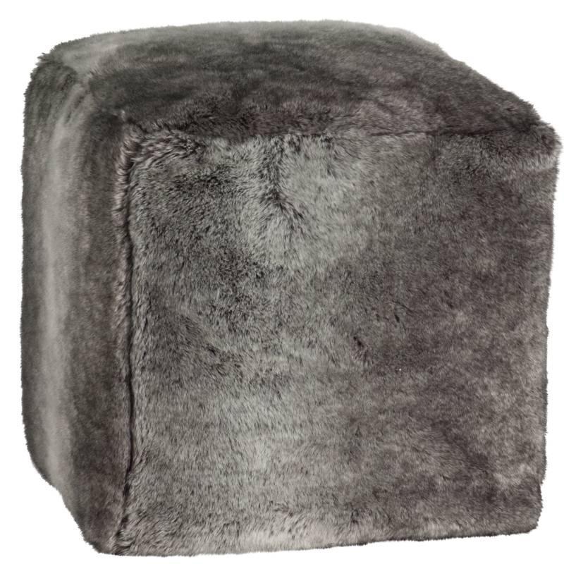 Winter Home Winter Home Fellimitat Cube Timberwolf 40x40x47 cm