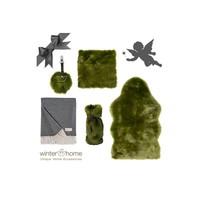 Weihnachtsset Greenwolf Kaschmir - 6 teilig  - Fellimitat Winter Home