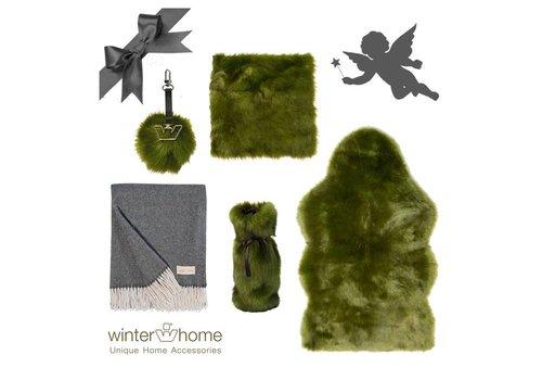 Winter Home Weihnachtsset Greenwolf Kaschmir - 6 teilig  - Fellimitat Winter Home