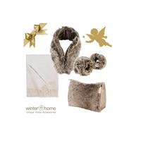 Weihnachtsset Yukonwolf Kaschmir - 6 teilig - Fellimitat Winter Home