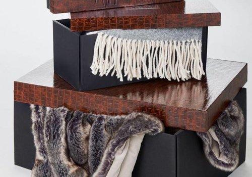 Winter Home Plaid Kyra - platin 150 x 200 cm
