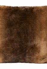 Winter Home Beaver Full Fur  Kissen im 2er Set, 45 x 45 cm
