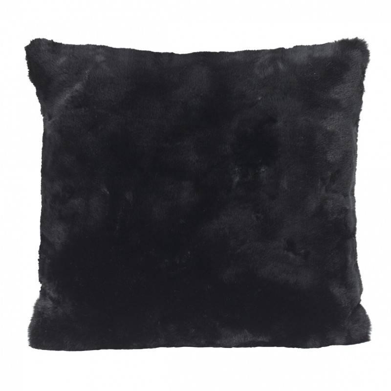 Winter Home Seal Black Full Fur  Kissen im 2er Set, 45 x 45 cm