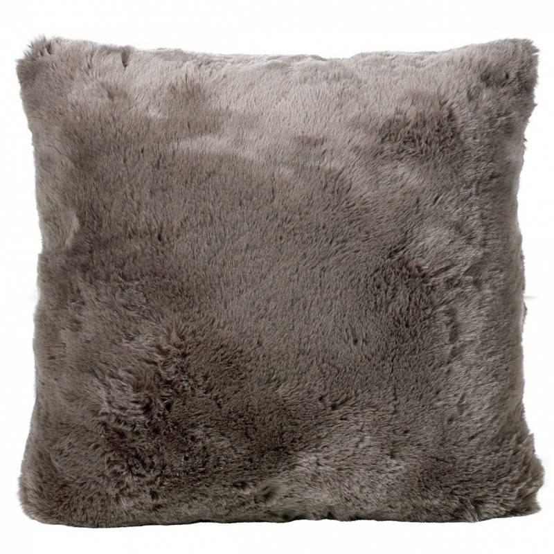 Winter Home Seal Taupe Full Fur  Kissen im 2er Set, 45 x 45 cm