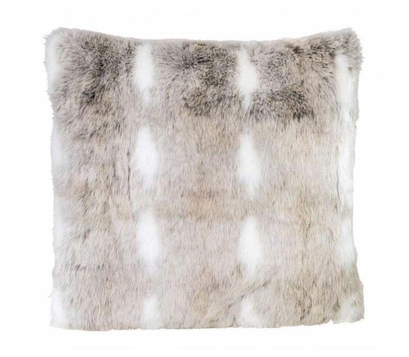 Snow Rabbit Full Fur  Kissen im 2er Set, 45 x 45 cm
