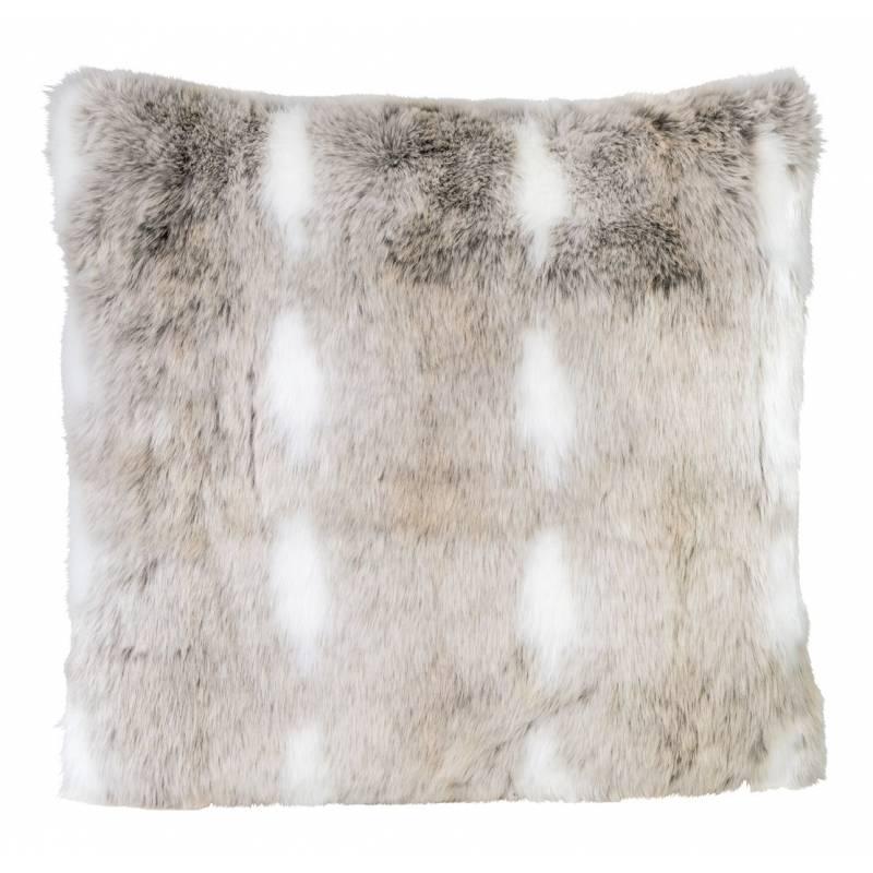 Winter Home Snow Rabbit Full Fur  Kissen im 2er Set, 45 x 45 cm