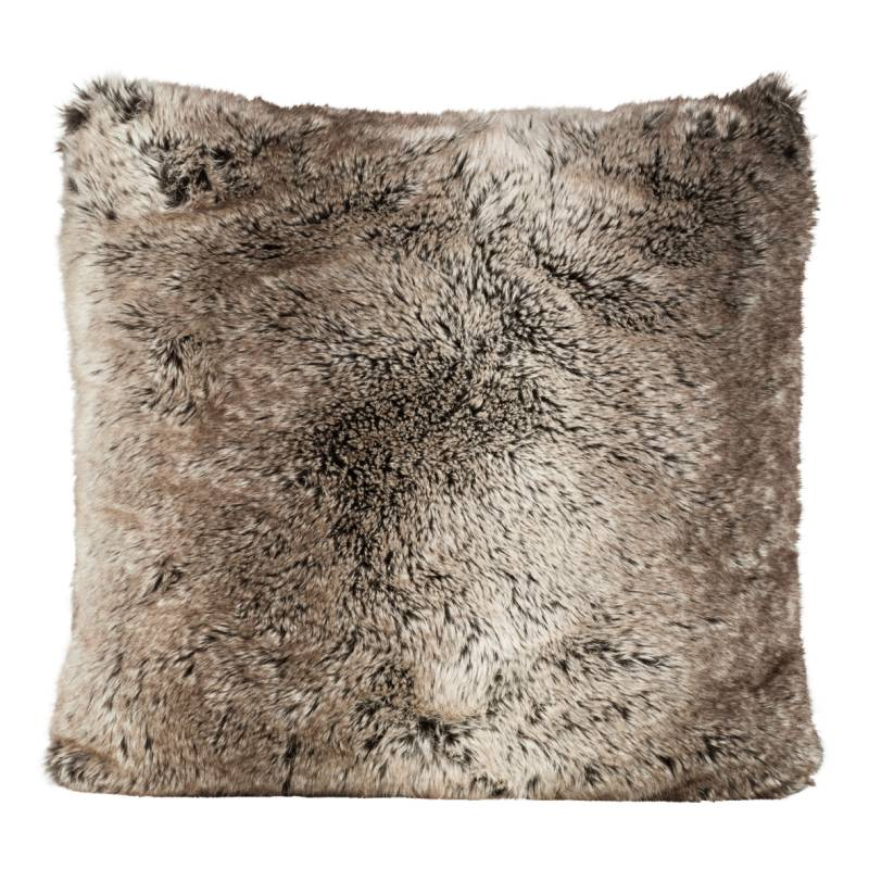 Winter Home Yukonwolf Full Fur  Kissen im 2er Set, 60 x 60 cm
