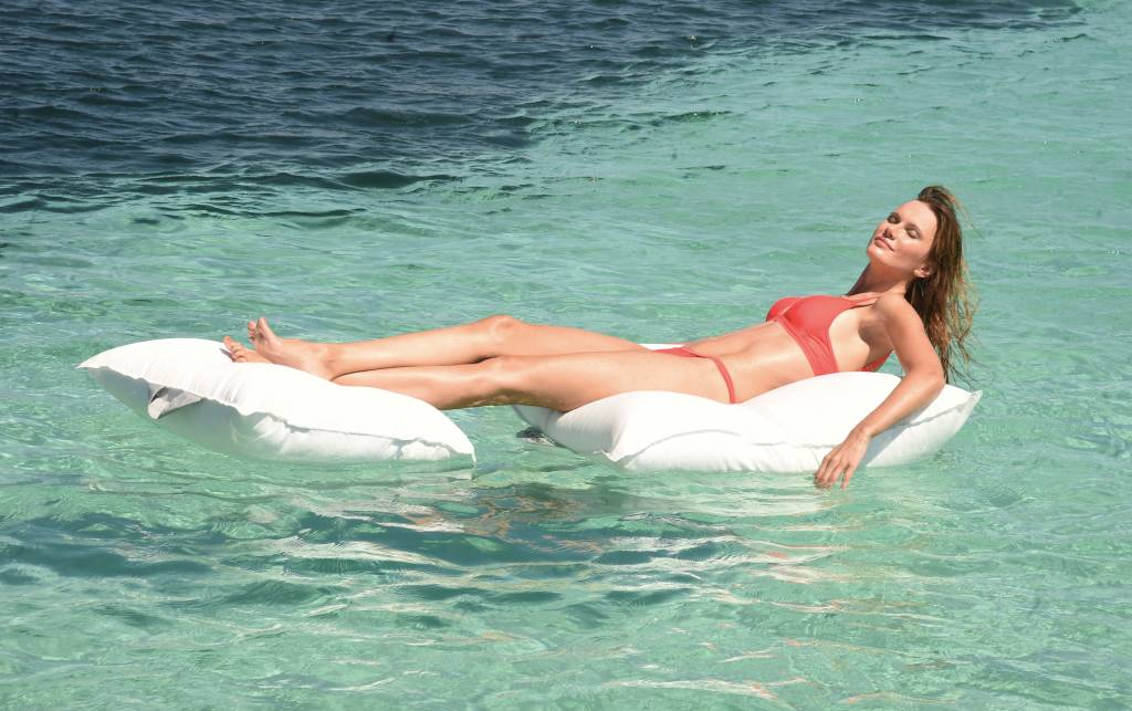 chillisy® Pool cushion Mini 60/60 100/100 - taupe