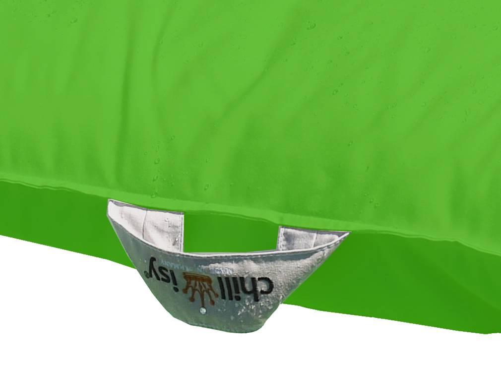 chillisy® Pool cushion Mini 60/60 100/100 - green