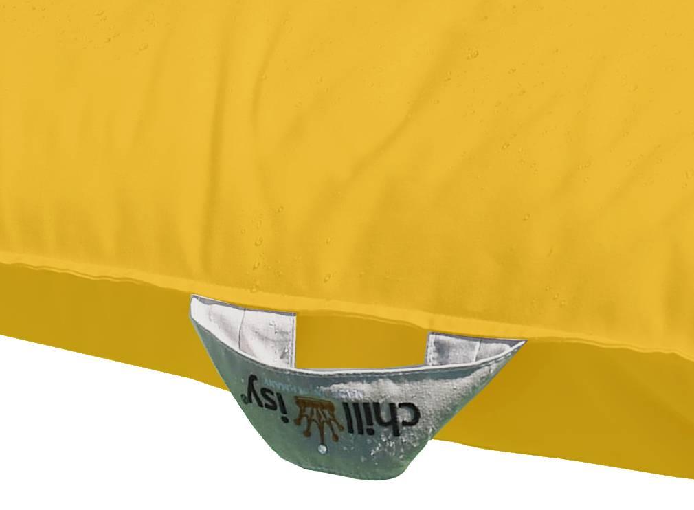 chillisy® Pool cushion Mini 60/60 100/100 - yellow