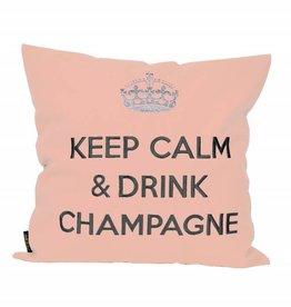 "chillisy® Cushion ""Keep Calm & Drink Champagne"" rose"