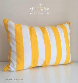 chillisy® Outdoor Kissen YACHT KLASSIK - gelb weiss