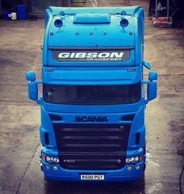 Coles Custom Zonneklep Scania (2 LED)