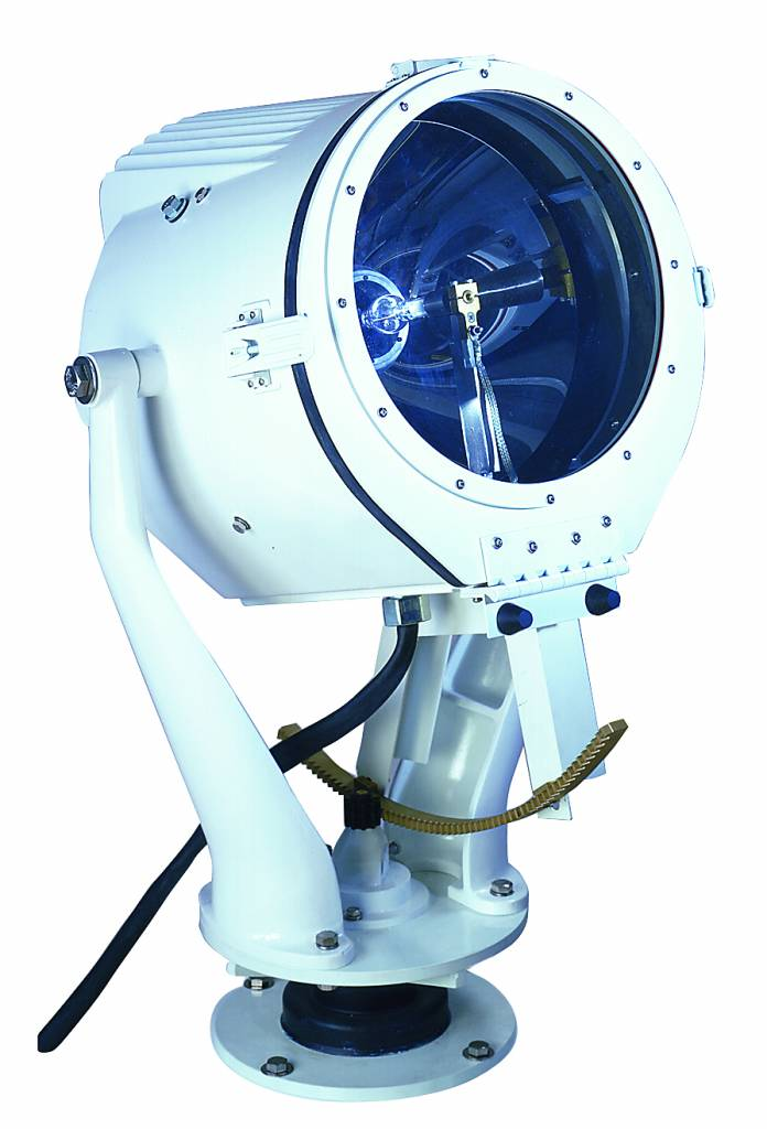 """Perko 15"""" or 19"""" Xenon Zoeklicht with Lever/Gear or Distant Electric Control (500, 1000 + 1600 W)"""