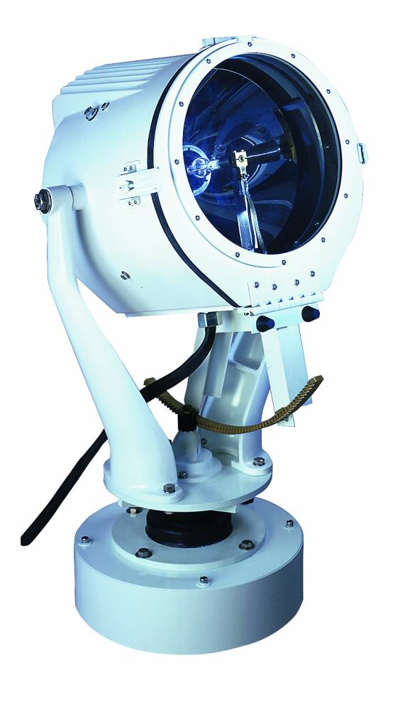 """Perko 15"""" or 19"""" Xenon Searchlight with Lever/Gear or Distant Electric Control (500, 1000 + 1600 W)"""