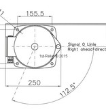 Peters&Bey LED Doppel Vollkreisnavigationslicht / Laterne 780 - Signallicht rot-grün