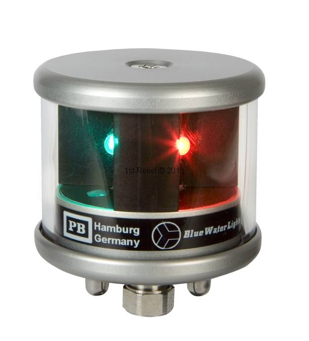 Peters&Bey LED Navigationslicht / Laterne 580 - Dreifarbenlicht rot-wei