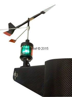 Peters&Bey LED Navigationlight / 580 Lantern - avec la lumière pour Vent indicateur de direction