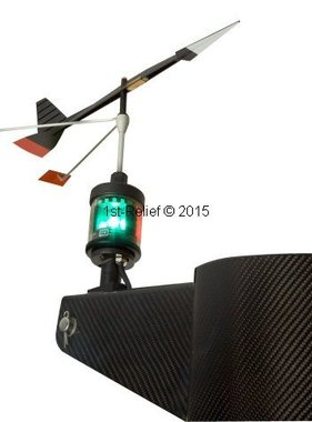 Peters&Bey LED Navigationlight / lanterna 580 - con la luce per Wind Direction Indicator