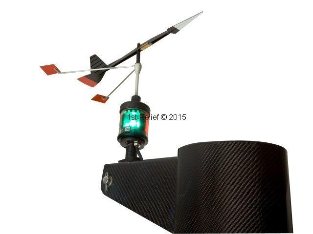 Peters&Bey LED Navigationslicht / Laterne - mit Beleuchtung für Verklicker (Windex)