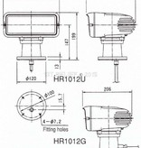 """Sanshin 7x3"""" Halo Cabin Scheinwerfer (24 VDC / 110 W) with lamp, control panel CPF53 and 5 m cable"""