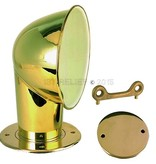 """Perko Polished Brass 4"""" Cowl Ventilator with Bronze Deck Plate"""