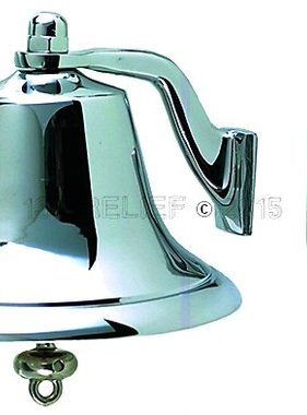 "Perko 6"" Fog Bell - Chrome Plated Bronze"