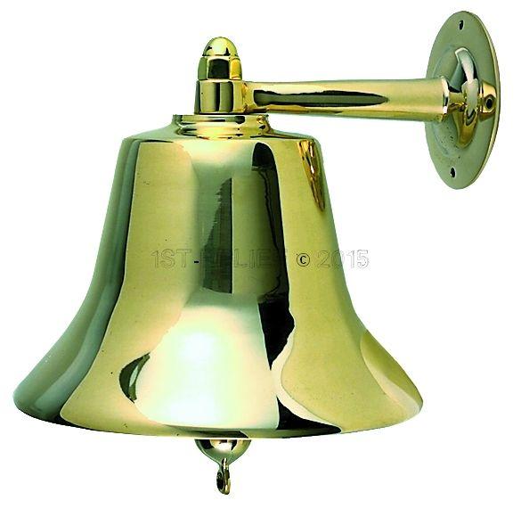 """Perko 12"""" Fog Bell - Plain Bronze"""