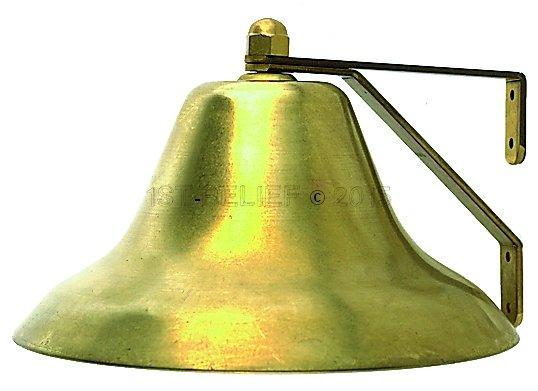"Perko 12"" Niebla Bell - Latón Llanura"