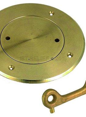 """Perko Plate régulier du pont (3 """"- 6"""") in Plain Bronze ou chromé"""
