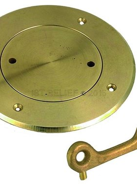 "Perko Regular Deck Plate (3"" - 6"") in Plain Bronze or Chrome Plated"