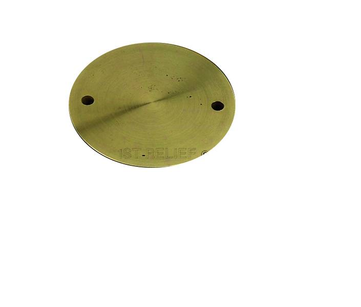"""Perko Spare Cap only for Deck Plate (3"""" to 6"""", Plain Bronze or Chrome Plated)"""