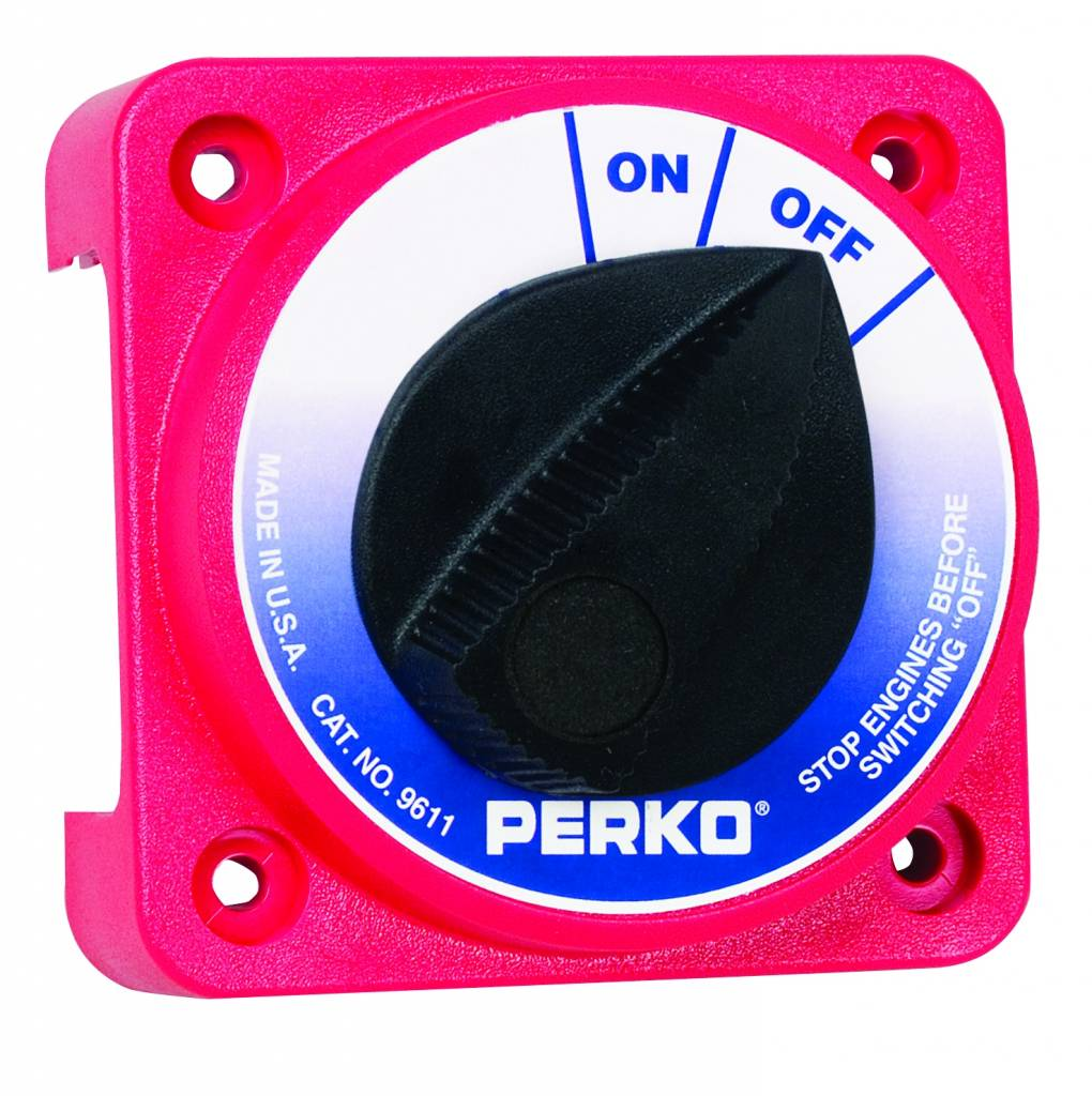 Perko Compact Battery Disconnect Switch (optioneel met sleutel slot)