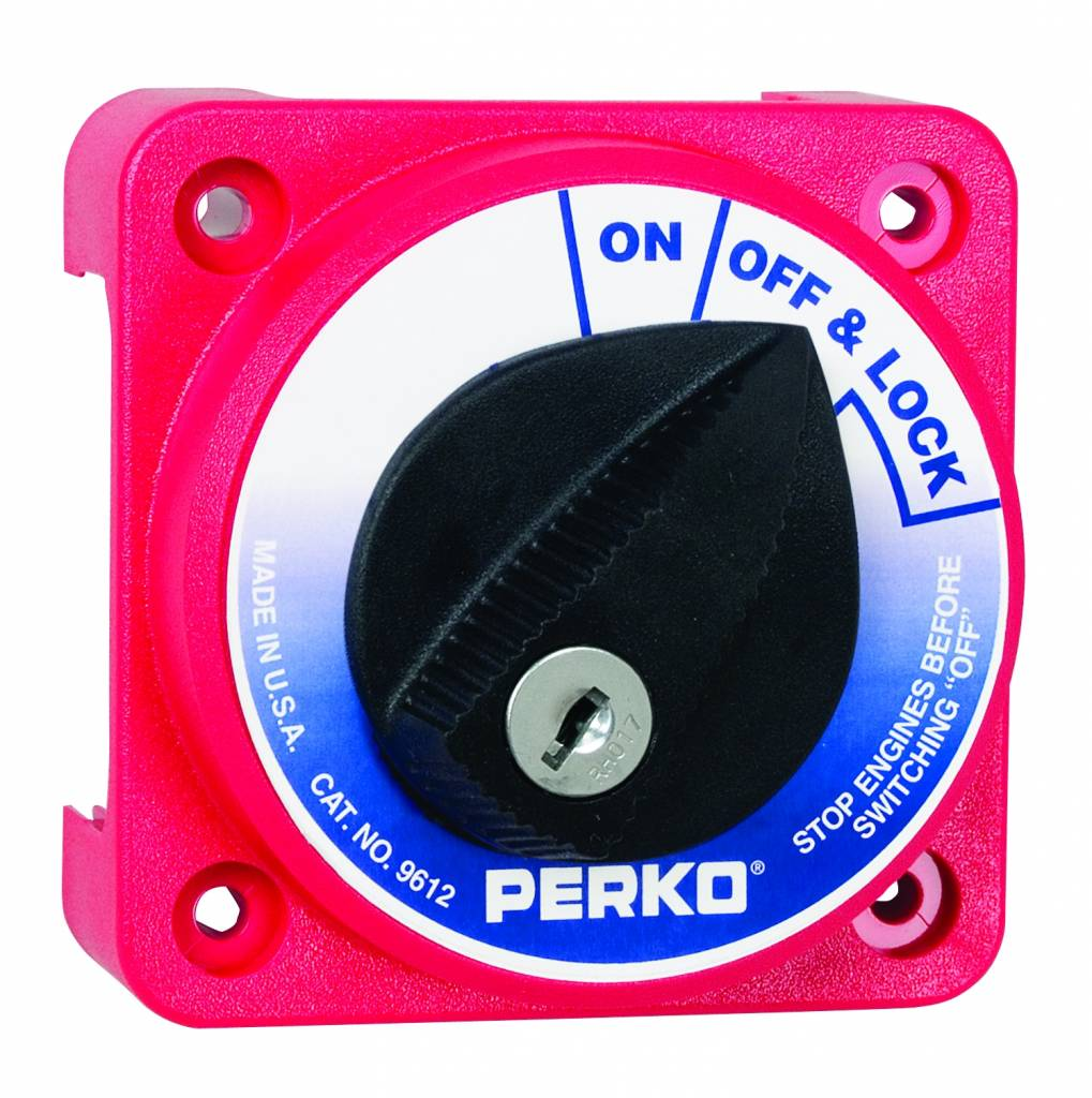 Perko Compact Main Battery Disconnect Switch (optional with key lock)