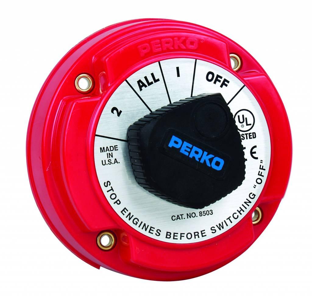 Perko Mittlerer Batterie-Umschalter (optional mit Schloss und AFD)