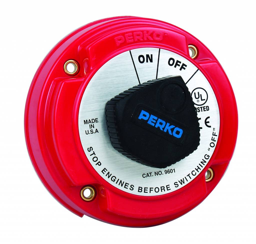 Perko Medium Main Battery Disconnect Switch (optional with Alternator Field Disconnect (AFD) and key lock)